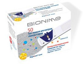 Тест-полоски для глюкометра Bionime Rightest GS300